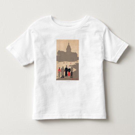 Le Pantheon Art Deco SceneParis, France Toddler T-shirt