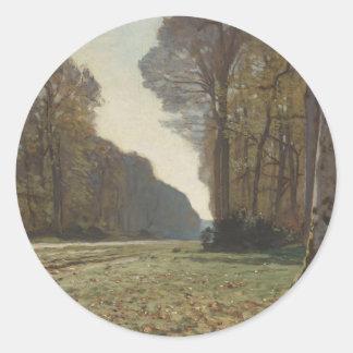 Le Pavé de Chailly (1865) Pegatina Redonda