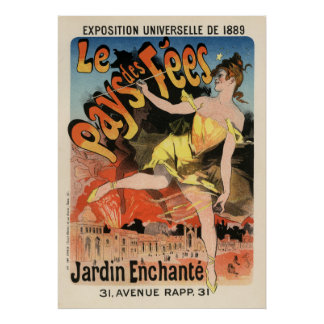 Le Pays  des Fées,  Jules Chéret Poster