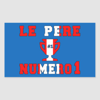 Le Père Numero 1 #1 Dad in Canadian Father's Day Rectangular Sticker