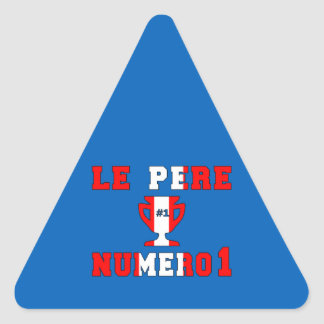 Le Père Numero 1 #1 Dad in Canadian Father's Day Triangle Sticker