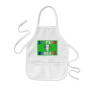 Le Père Numero 1 #1 Dad in French Father's Day Kids' Apron