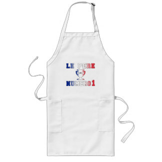 Le Père Numero 1 #1 Dad in French Father's Day Long Apron
