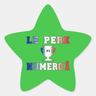 Le Père Numero 1 #1 Dad in French Father's Day Star Sticker