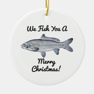 ¡Le pescamos las Felices Navidad! ornamento Adorno De Navidad