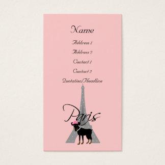 Le petit chien à Paris Business Card