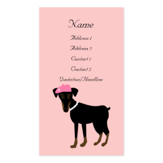 Le petit chien à Paris Business Card Template