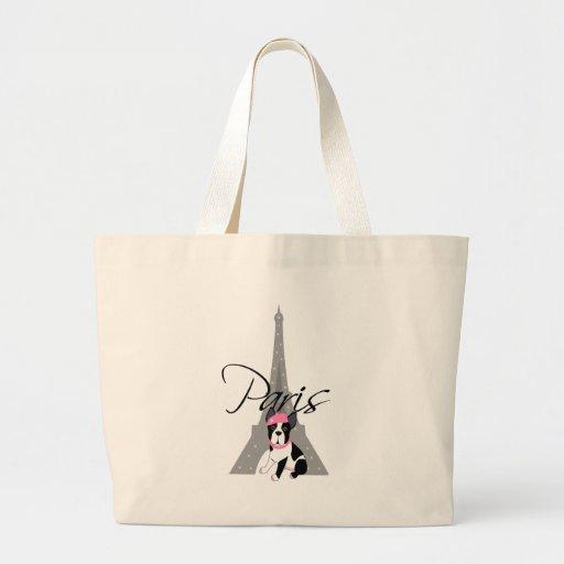 Le petit chien à Paris Canvas Bags