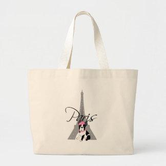 Le petit chien à Paris Jumbo Tote Bag