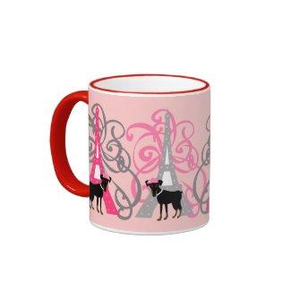 Le petit chien à Paris mug