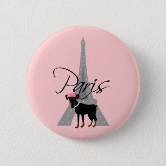 Le petit chien à Paris Pinback Button