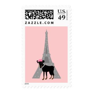 Le petit chien à Paris Stamps