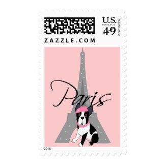 Le petit chien à Paris Postage