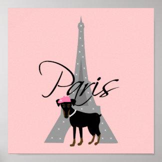 Le petit chien à Paris Poster