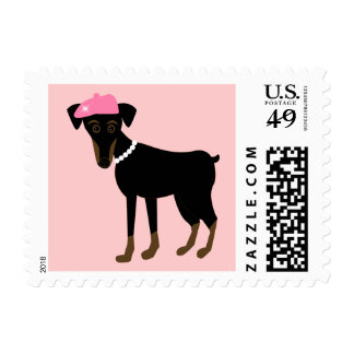 Le petit chien postage stamp