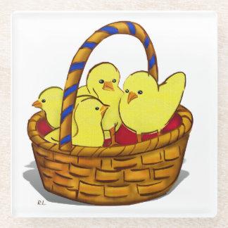 Le Petit Poule Easter DECOR 1 Glass Coaster