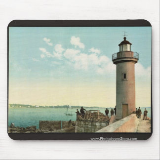 Le phare, Cannes, Riviera vintage Photochrom Mouse Pads