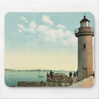 Le phare, Cannes, Riviera vintage Photochrom Mouse Pad