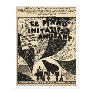 Le Piano Imitatif y Amusant, partitura Tarjeta Postal