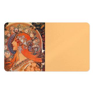 Le Plume Art Nouveau Design Business Card