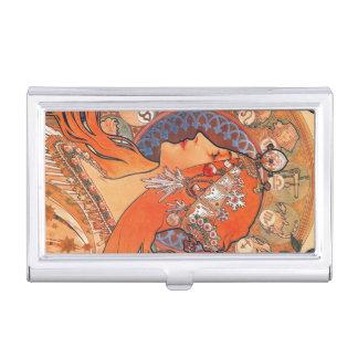 Le Plume Art Nouveau Design Case For Business Cards