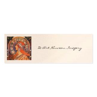 Le Plume Art Nouveau Design Mini Business Card