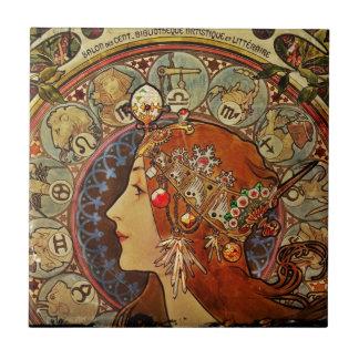 Le Plume Portrait Ceramic Tile