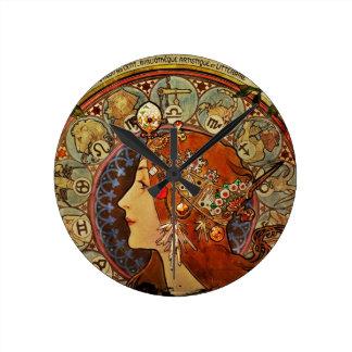 Le Plume Portrait Round Clock