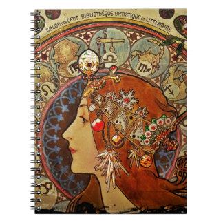 Le Plume Portrait Spiral Notebook