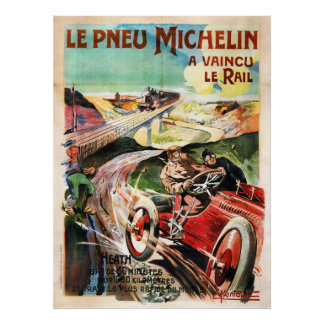 Le Pneu Michelin French Vintage Advertisment Poster