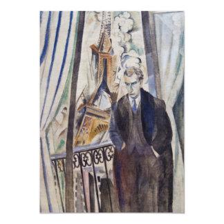 """Le Poète Felipe Soupault de Roberto Delaunay 1922 Invitación 5"""" X 7"""""""