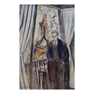 Le Poète Philippe Soupault by Robert Delaunay 1922 Print