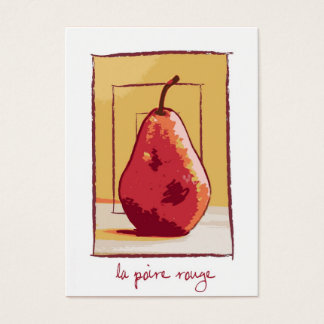 Le Poire Rouge (Red Pear) Blank Business Card