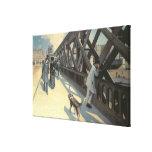 Le Pont de L'Europe, 1876 Gallery Wrapped Canvas