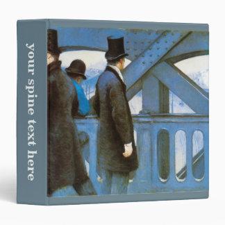 Le Pont de l'Europe by Gustave Caillebotte 3 Ring Binder