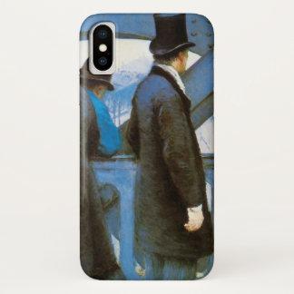 Le Pont de l'Europe by Gustave Caillebotte iPhone X Case