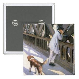 Le Pont de L'Europe: detail of a resting man and a Button