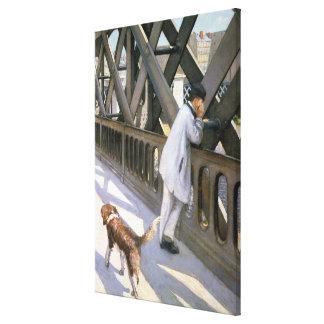 Le Pont de L'Europe: detail of a resting man and a Canvas Print