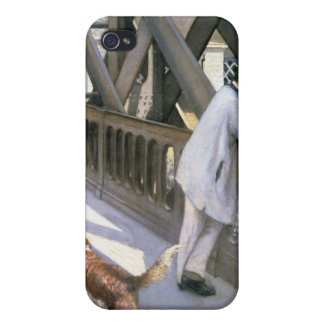 Le Pont de L'Europe: detail of a resting man and a Case For iPhone 4