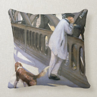 Le Pont de L'Europe: detail of a resting man and a Throw Pillow