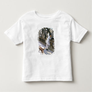 Le Pont de L'Europe: detail of a resting man and a Toddler T-shirt