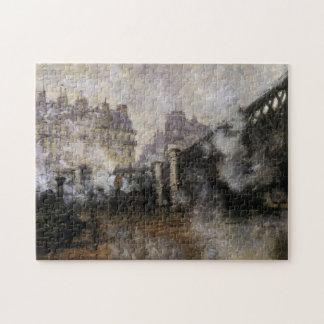 Le Pont de l'Europe, Gare Saint-Lazare Monet Fine Jigsaw Puzzle