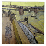 Le Pont de Trinquetaille en Arles, 1888 (aceite en Azulejo Cuadrado Grande