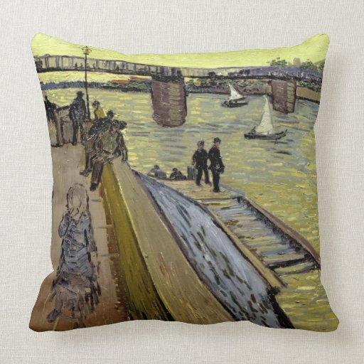 Le Pont de Trinquetaille en Arles, 1888 (aceite en Cojín