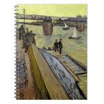 Le Pont de Trinquetaille en Arles, 1888 (aceite en Libreta Espiral