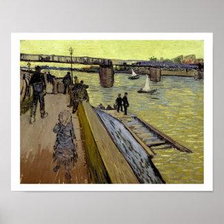Le Pont de Trinquetaille en Arles 1888 aceite en Poster