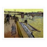 Le Pont de Trinquetaille en Arles, 1888 (aceite en Postal