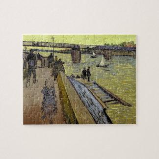 Le Pont de Trinquetaille en Arles, 1888 (aceite en Rompecabezas Con Fotos