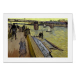 Le Pont de Trinquetaille en Arles, 1888 (aceite en Tarjeta De Felicitación