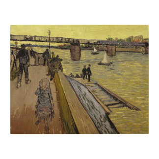 Le Pont de Trinquetaille en Arles 1888 aceite en Impresiones En Madera